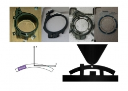 production route of manufacturing and testing specimens from a oil pump stator