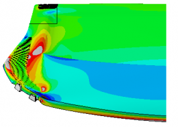 Finite Element Analysis Stress Contour Plot of an Automobile Hat Rack