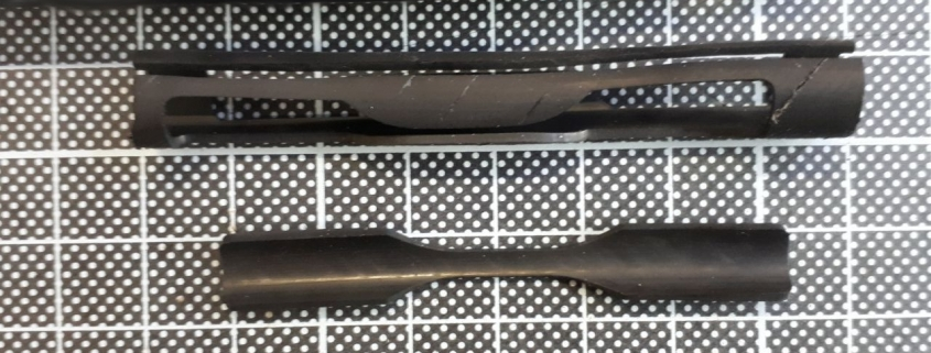 elastomer composite hose and prepared specimens