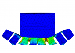 FEA of an automotive component crash test