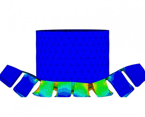 FEA of an automotive component crash test