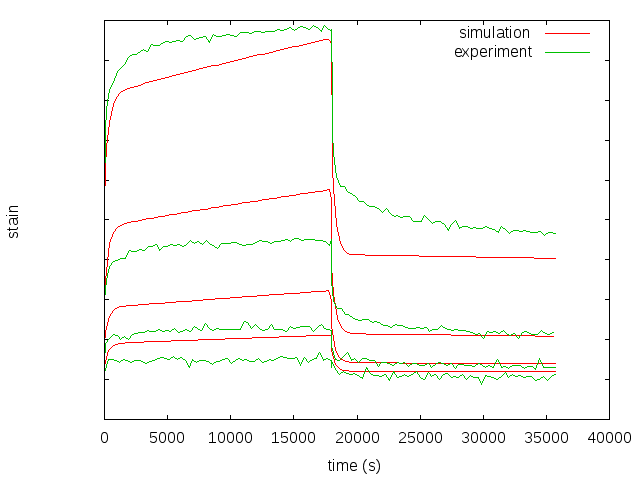 Short Carbon Fiber Reinforced PEEK: Strain-Time Plots during Creep-Retraction Tests at different Stress Levels