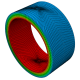 finite element mesh of pipe with imperfection