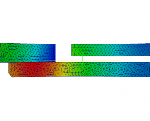FEA contour plot of local wear height in the contacting area of a sealing