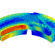 FEA contour plot of von Mises stresses after wear of a sealing